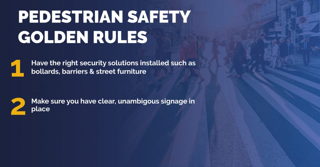 Pedestrian Safety Golden Rules Graphic